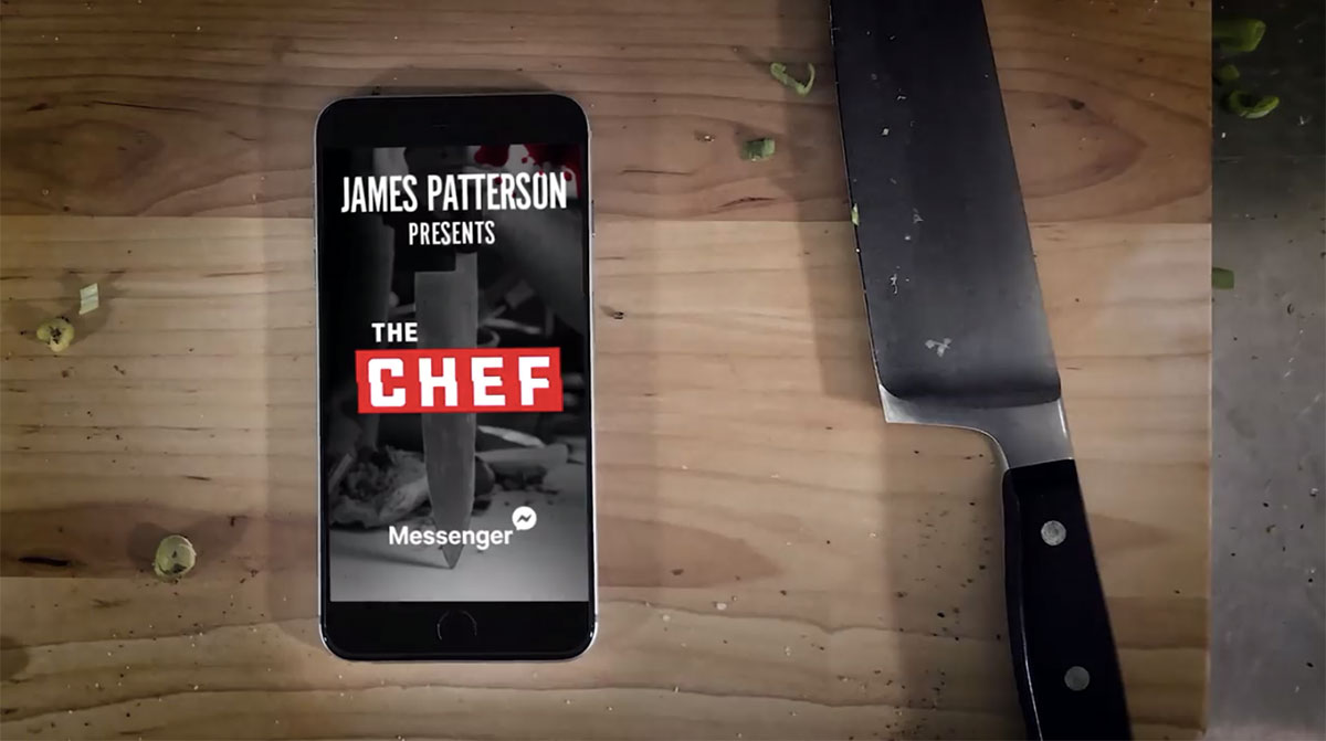 Il libro di James Patterson, The Chef, su Facebook Messenger