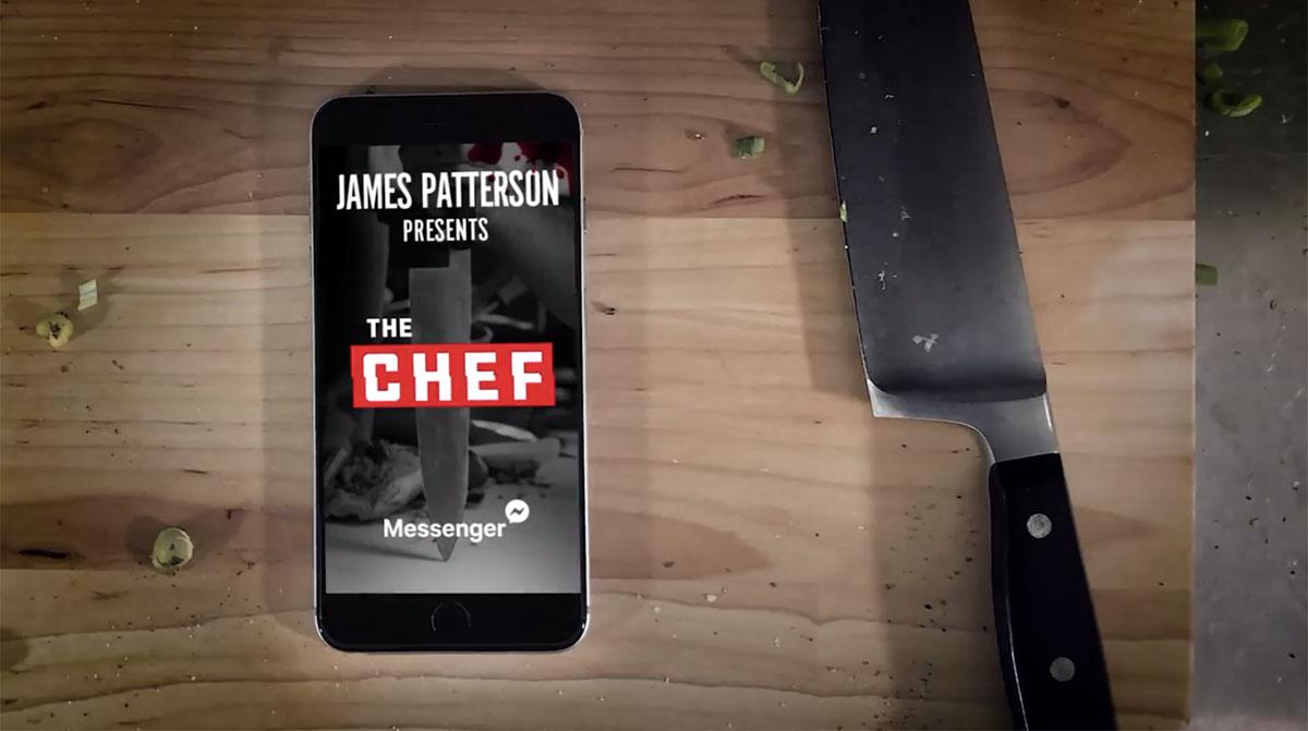 Il libro di James Patterson, The Chef, su Facebook Messenger