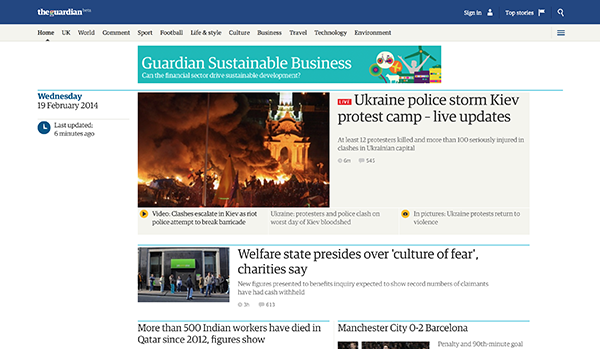 Screenshot di The Guardian