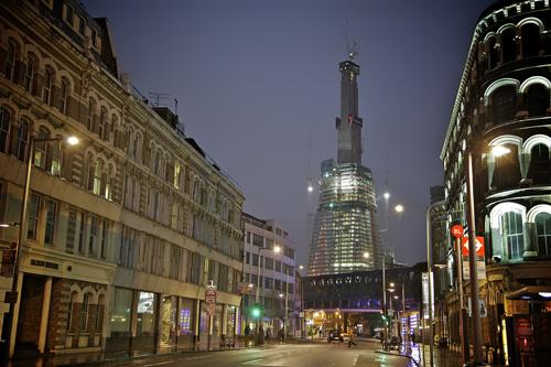 Il grattacielo The Shard in costruzione a Londra
