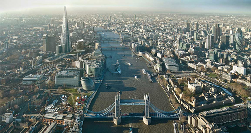 Un rendering del grattacielo The Shard a Londra