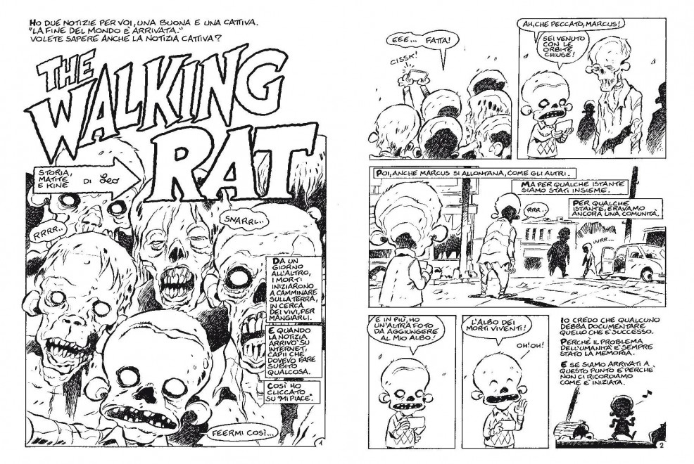 Le prime de tavole di The Walking Rat