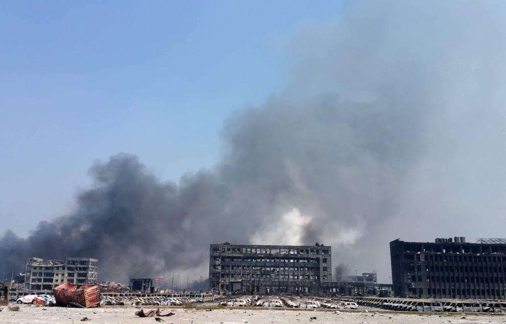 I danni dell'esplosione a Tianjin