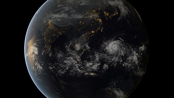 Il tifone Haiyan visto dallo spazio