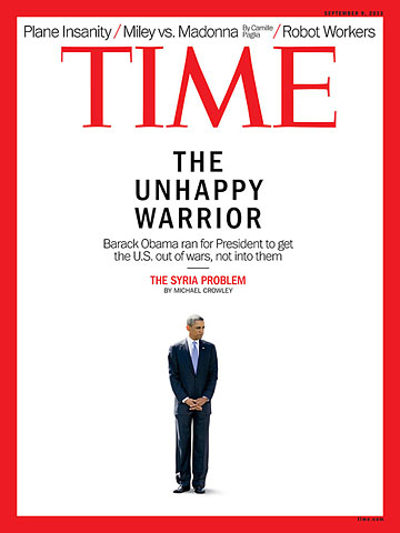 La copertina di Time su Obama e il conflitto in Siria