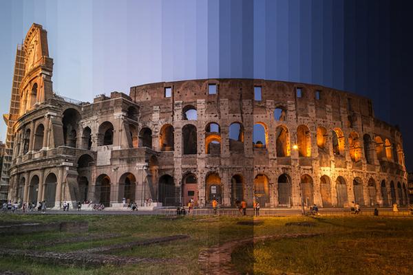 Il Colosseo fotografato da Richard Silver