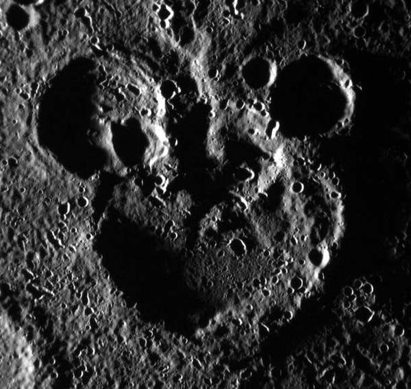 Il volto di Topolino su Mercurio