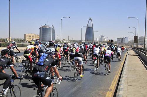Il passaggio del Tour d'Afrique in Sudan