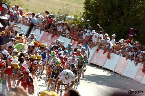 L'arrivo della prima tappa del Tour 2011