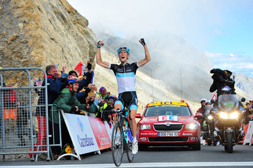 Andy Schleck sulle Alpi