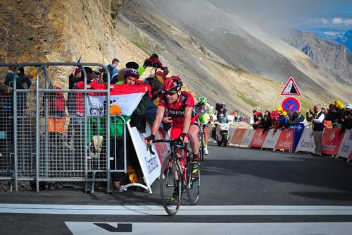 Cadel Evans sulle Alpi