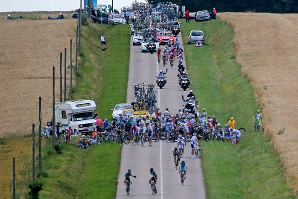 Caduta al Tour 2012