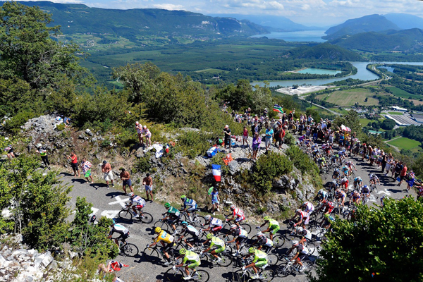 Il Col du Grand Colombier vince al Tour 2012