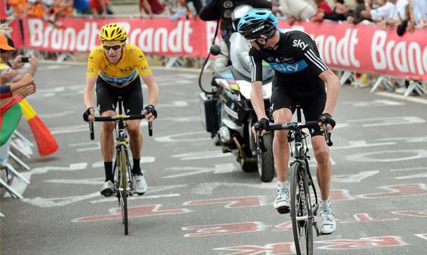 Wiggins e Froome al Tour 2012
