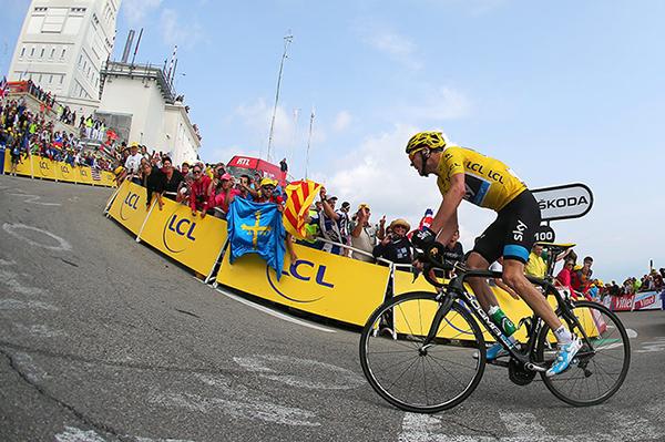 Froome sul mont Ventoux al Tour de France 2013