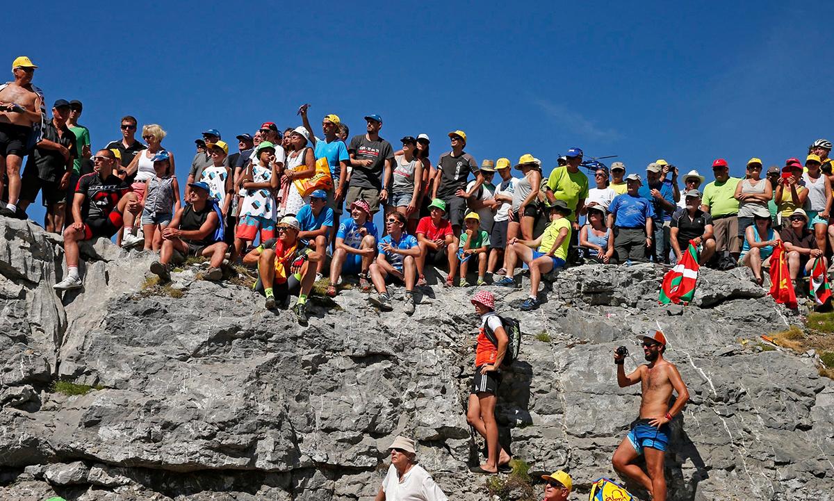 Tifosi sui Pirenei al Tour 2015