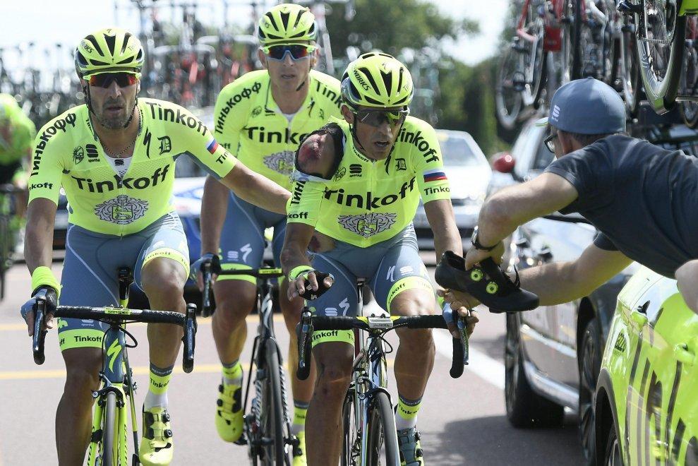 Contador ferito al Tour 2016