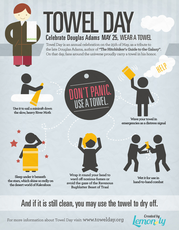Infografica sul Towel Day