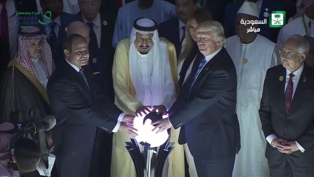 Trump, al-Sisi e re Salman stregoni