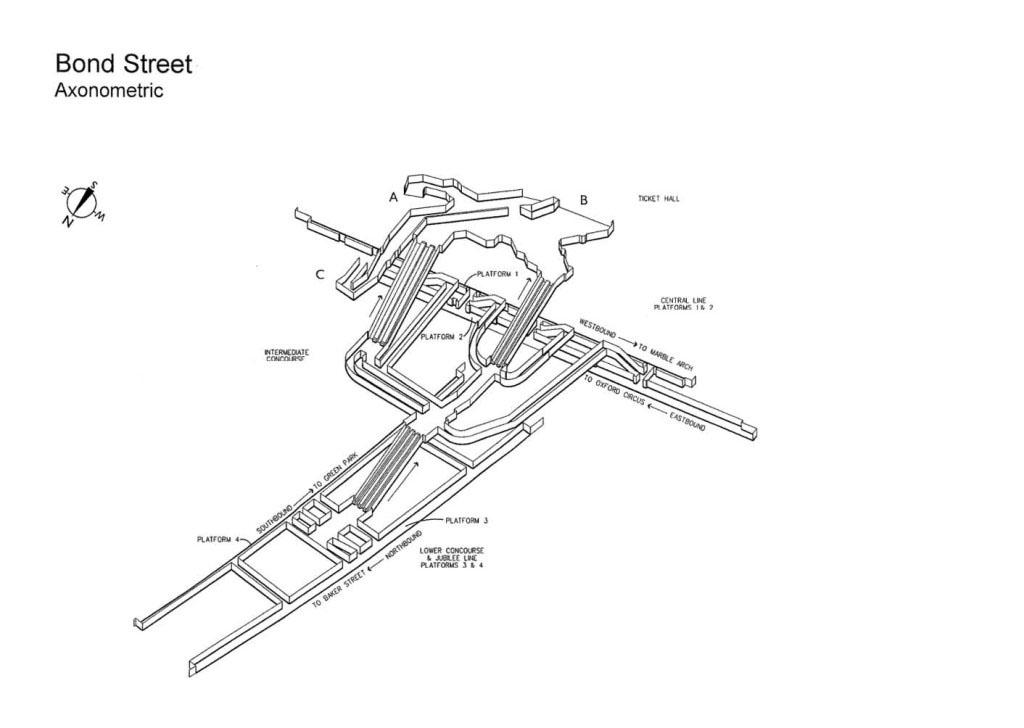 La stazione della Tube di Bond Street