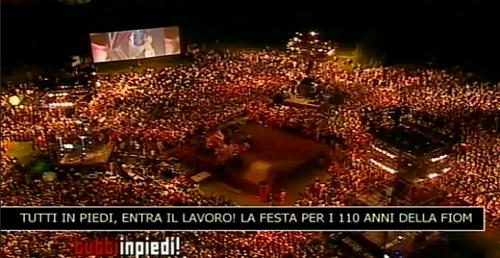 La festa della FIOM a Bologna