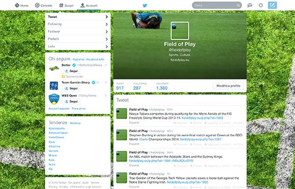 La nuova veste grafica 2014 di Twitter