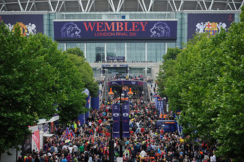 Lo stadio di Wembley