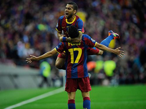 Pedro festeggia il gol