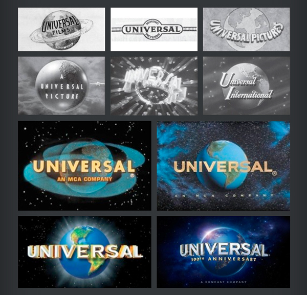 I loghi di Universal attraverso il tempo