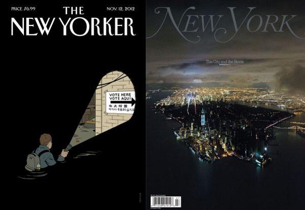 Le copertine dei magazine newyorkesi sull'uragano Sandy