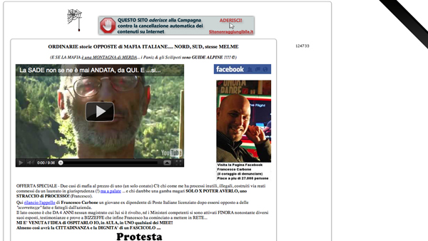 Screenshot di Vajont.info