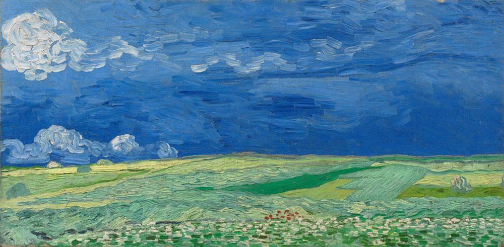 Campo di grano sotto nubi temporalesche di Vincent van Gogh