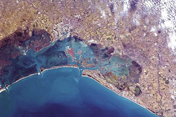 Venezia fotografata dalla ISS