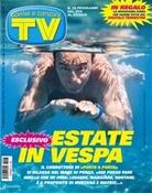 La copertina di TV, Sorrisi e Canzoni con Vespa che nuota in una vasca
