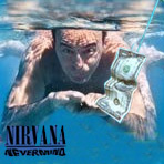 La copertina dell'album dei Nirvana 'Nevermind' ritoccata con l'immagine di Vespa