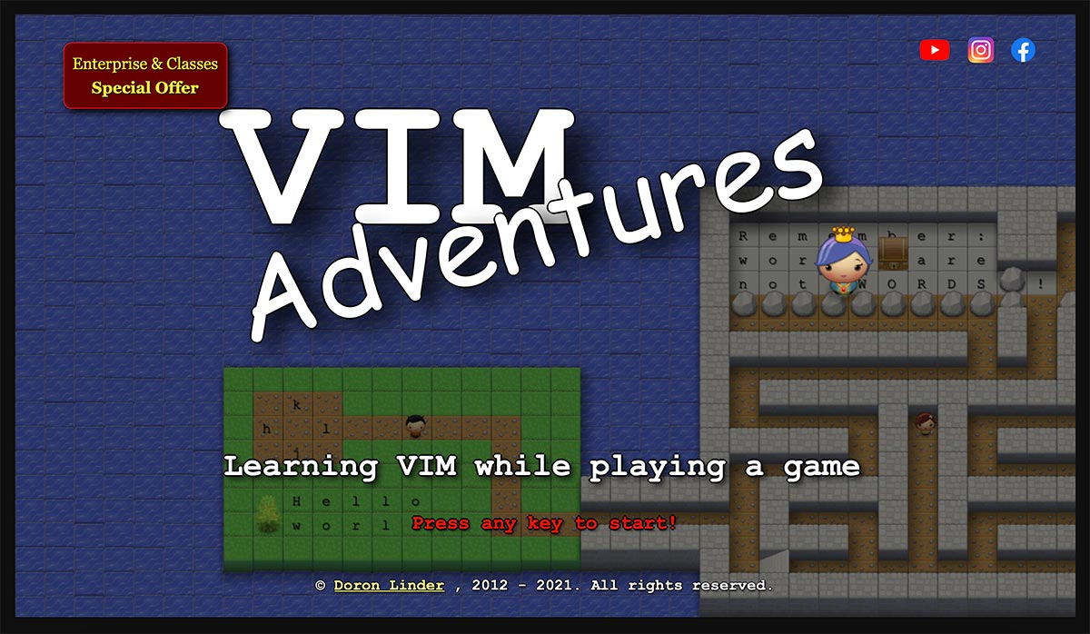 Screenshot di Vim Adventures