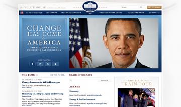 La nuova veste grafica del sito della Casa Bianca