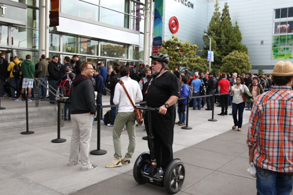 Steve Wozniak in Segway al WWDC 2013