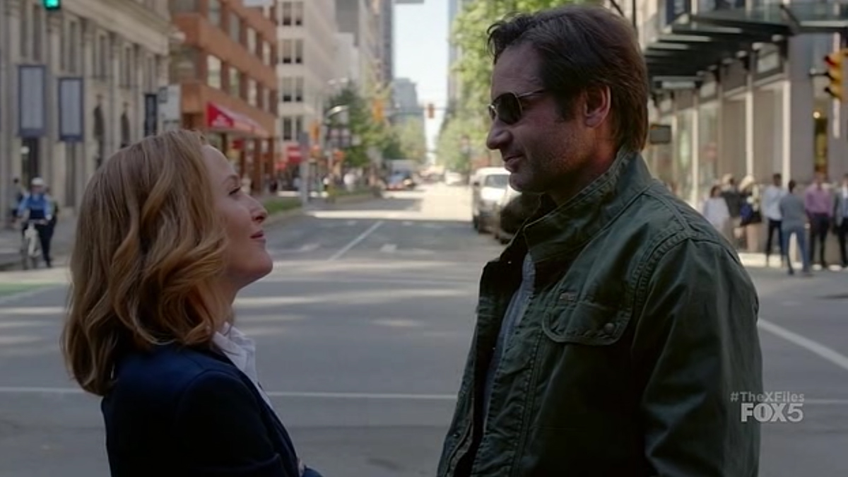 Gillian Anderson e David Duchovny in X-Files