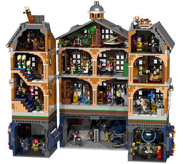 La X-Mansion riprodotta con i Lego