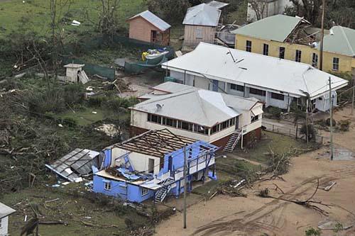 I danni del ciclone Yasi in Australia