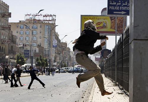 Manifestanti yemeniti a San'a